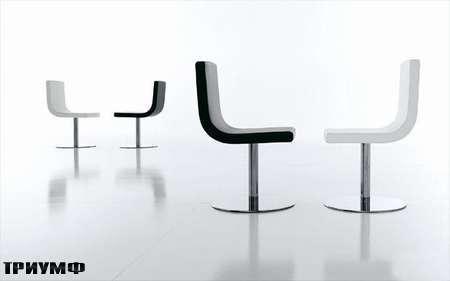 Итальянская мебель Presotto - стул opera в коже и хроме