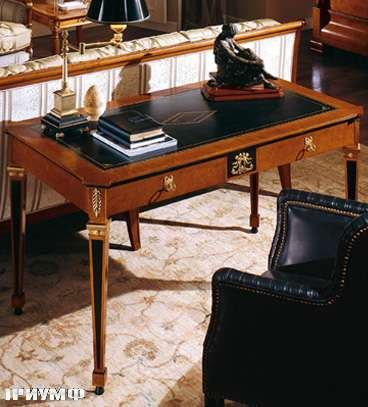 Итальянская мебель Colombo Mobili - Рабочий стол в имперском стиле арт.133 кол. Perosi