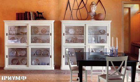 Итальянская мебель Tonin casa - витрины с раздвижными дверьми