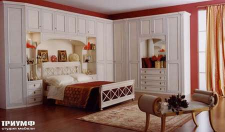 Итальянская мебель Ferretti e Ferretti - Стенка угловая с кроватью, коллекция morfeo