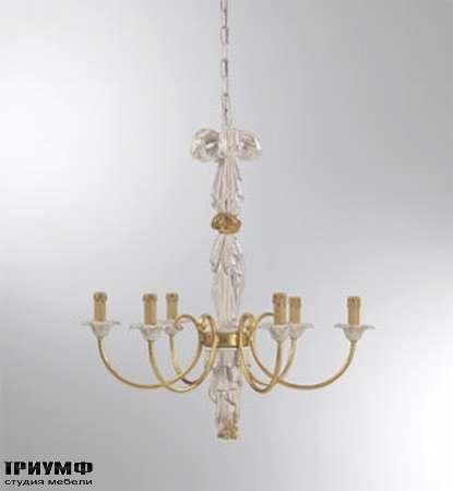 Итальянская мебель Chelini - люстра изящная дерево, металл 75xh70