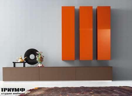 Итальянская мебель Pianca - Стенка с вертикальными колоннами Spazio