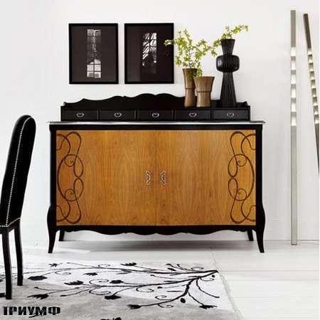 Итальянская мебель Flai - комод Hampshire с орнаментом с дополнительными ящиками