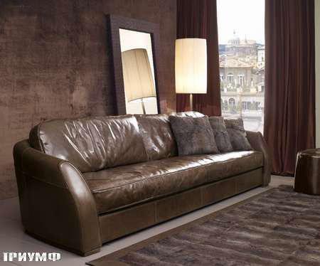 Итальянская мебель Ulivi  - диван-в-коже-Rubens-plus