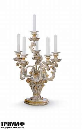Итальянская мебель Chelini - Канделябр настольный двухуровневый на 8 свечей арт.865