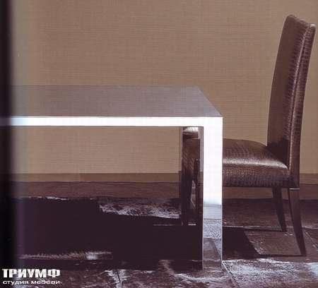 Итальянская мебель Rugiano - Стол Narciso полированная сталь