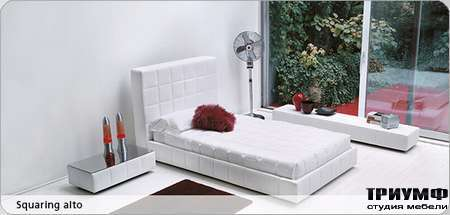 Итальянская мебель Bonaldo - кровать односпальная Squaring alto