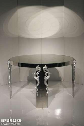 Итальянская мебель Cornelio Cappellini - Стол круглый, метал, стекло