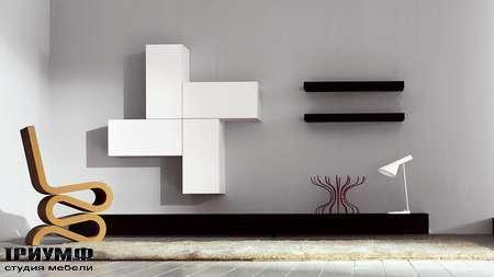 Итальянская мебель Pianca - Стенка, с геометрическим рисунком Spazio