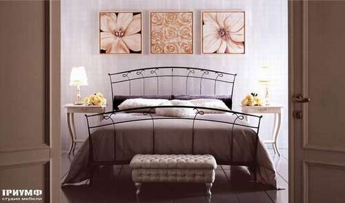 Итальянская мебель Giusti Portos - Двуспальная кованая кровать Opla