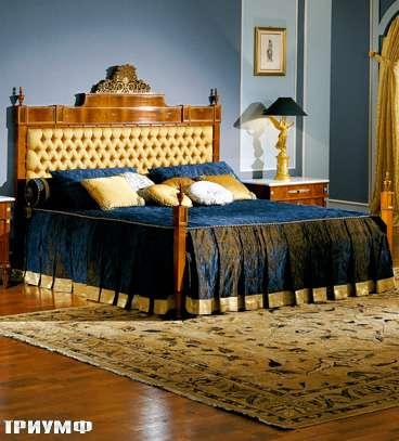 Итальянская мебель Colombo Mobili - Кровать в имперском стиле арт.363.2С кол. Paganini