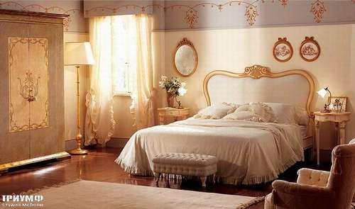 Итальянская мебель Giusti Portos - Кровать с изголовьем в ткани Palmares