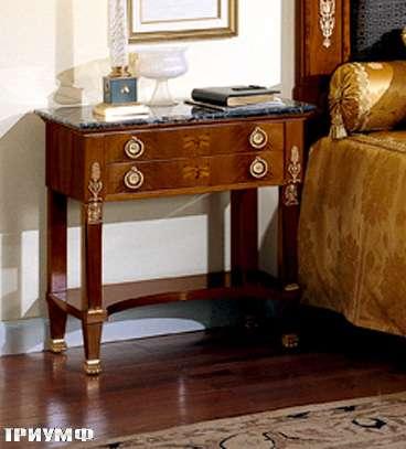 Итальянская мебель Colombo Mobili - Прикроватный столик в имперском стиле арт.147 кол. Bellini