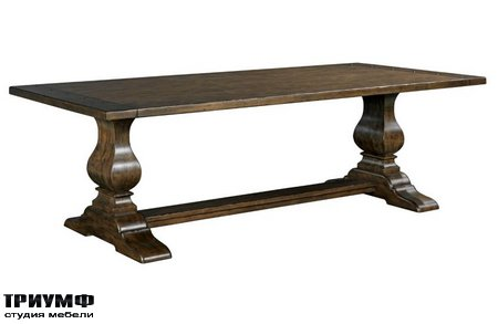 Американская мебель Kincaid - 94IN RECT DINING TABLE WOOD BASE