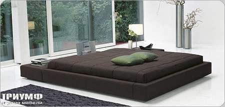 Итальянская мебель Bonaldo - кровать односпальная Squaring isola со съемным чехлом