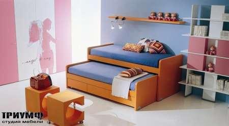 Итальянская мебель Di Liddo & Perego - Кровать двойная детская с ящиком, Over-Under