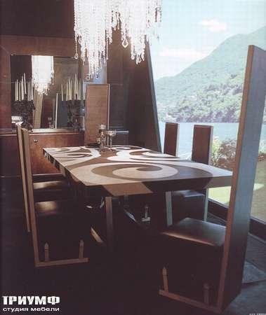 Итальянская мебель Rugiano - Стол Optical в коже, прямоугольный