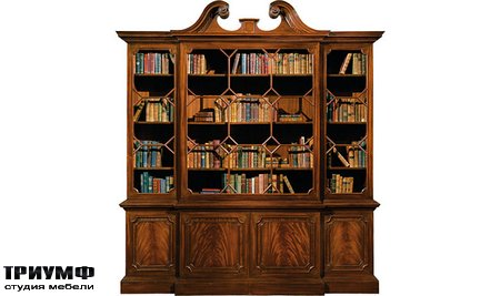 Американская мебель Baker - Chippendale Mahogany Bookcase