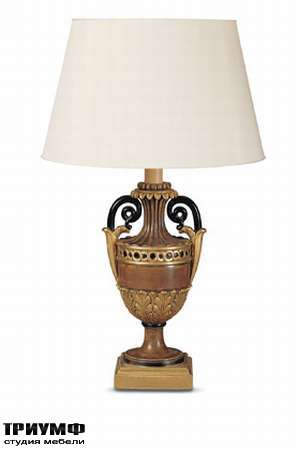 Итальянская мебель Chelini - Настольная лампа одно рожковая с абажуром