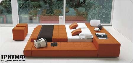 Итальянская мебель Bonaldo - кровать односпальная Squaring penisola