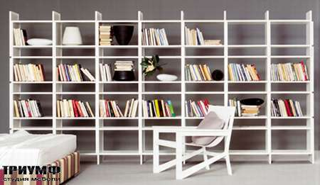 Итальянская мебель Pianca - Стеллаж открытый в матовом лаке для книг Unless