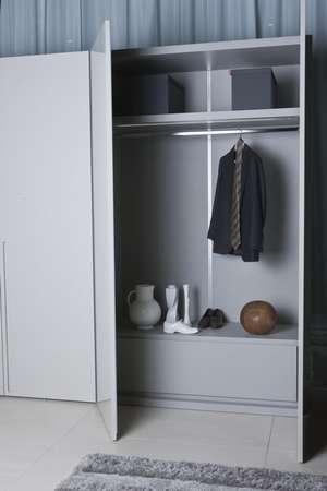 Шкаф с распашными дверьми, серый
