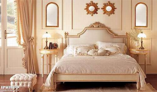 Итальянская мебель Giusti Portos - Спальня в дереве и ткани Parisienne