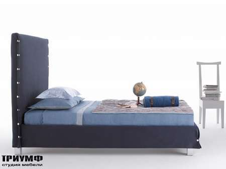 Итальянская мебель Orizzonti - кровать White с высокой спинкой