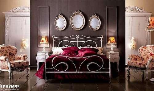 Итальянская мебель Giusti Portos - Спальня в серебре Portos