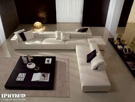 Итальянская мебель CTS Salotti - Диван современный угловой, низкий, коллекция Libero