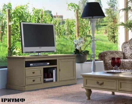 Итальянская мебель Tonin casa - тумба под тв с нишами из массива