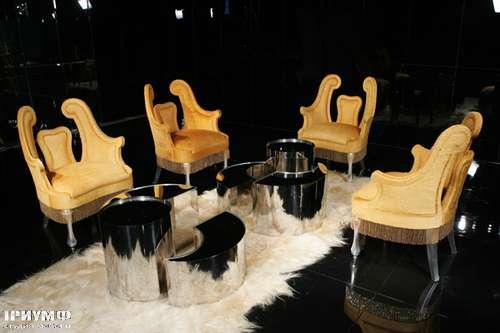 Итальянская мебель Cornelio Cappellini - Стулья из стекла, дерева, ткани