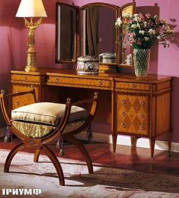 Итальянская мебель Colombo Mobili - Туалетный столик в имперском стиле арт.316 кол. Donizetti