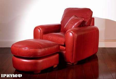 Английская мебель Duresta - кресло с пуфом spifirechr