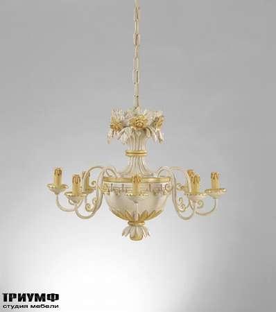 Итальянская мебель Chelini - Люстра 8 свечей, классика арт.692 (без абажуров)