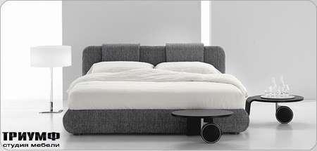 Итальянская мебель Bonaldo - кровать двуспальная Pad basso со съемным чехлом