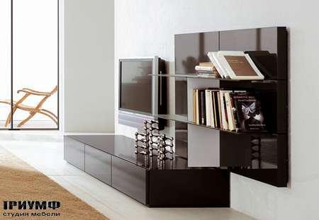 Итальянская мебель Pianca - Стенка, черный лак, композиция People 8