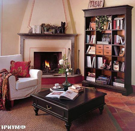Итальянская мебель Tonin casa - книжный стеллаж из дерева