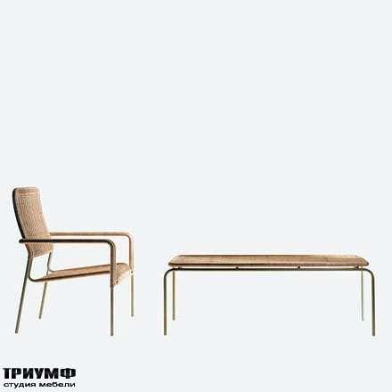 Итальянская мебель Driade - Полукресло и столик плетенный
