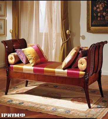 Итальянская мебель Colombo Mobili - Диван-кровать в английском стиле арт.209 кол. Mascagni вишня