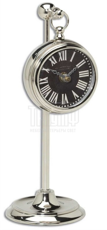 Американская мебель Uttermost - Часы карманные на телескопической ножке Marchant Black 06071