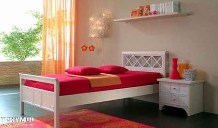 Итальянская мебель Julia - Кровать детская с тумбой, модель deco