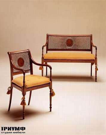 Итальянская мебель Medea - Диван классика арт. 114,  кресло арт. 113