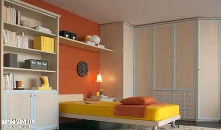 Итальянская мебель Julia - Шкаф угловой из дерева, модель deco