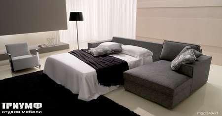 Итальянская мебель CTS Salotti - Диван угловой, раскладывающийся в кровать, Smart letto
