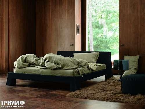 Итальянская мебель Ivano Redaelli - Кровать Manhattan в коже