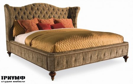 Американская мебель Hickory White - King Upholstered Bed