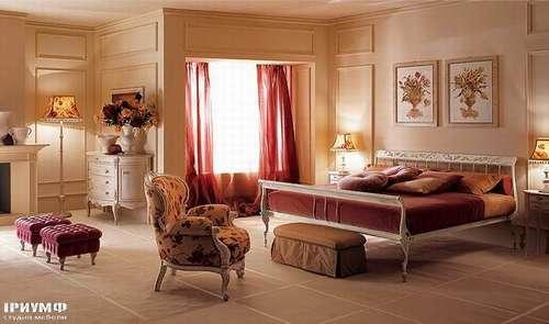 Итальянская мебель Giusti Portos - Спальня с решетчатым изголовьем Siche