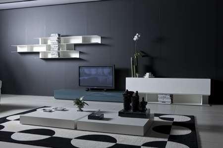 Итальянская мебель Pianca - Стенка People и журнальный столик  Joker