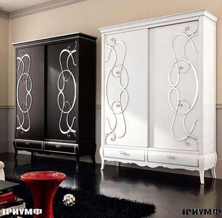 Итальянская мебель Flai - Шкаф с расдвижными дверьми с накладными узорами, размером